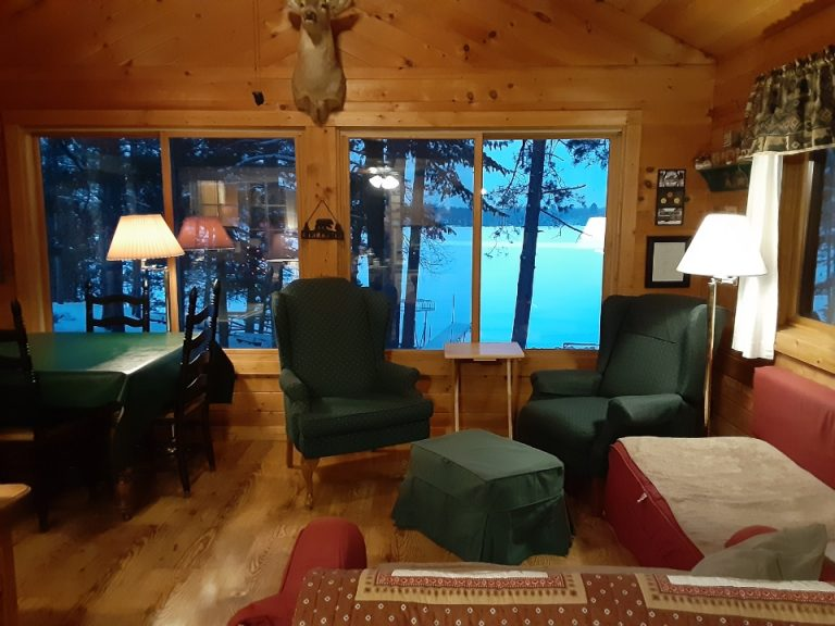 Living Room Overlooking Lake Chippewa Flowage